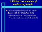 a biblical examination of modern day trends81