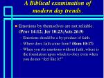 a biblical examination of modern day trends82