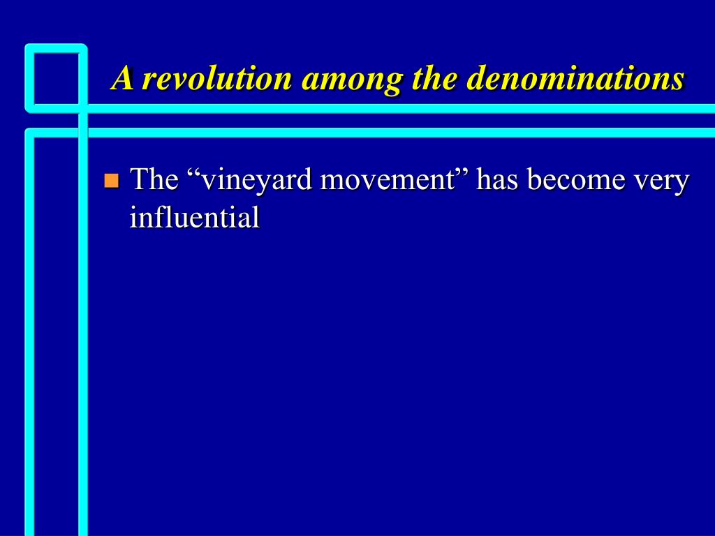 a revolution among the denominations l.