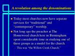 a revolution among the denominations10