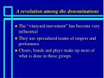 a revolution among the denominations3
