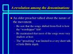 a revolution among the denominations7