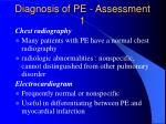 diagnosis of pe assessment 1
