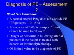 diagnosis of pe assessment 2