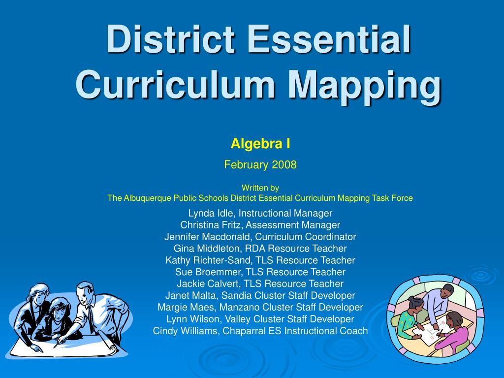 district essential curriculum mapping l.