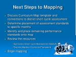 next steps to mapping