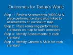 outcomes for today s work
