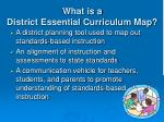 what is a district essential curriculum map