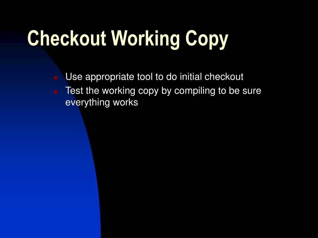 Checkout Working Copy