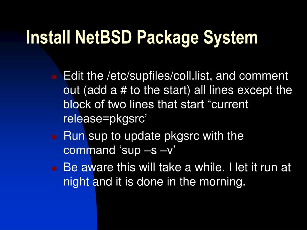 Install NetBSD Package System