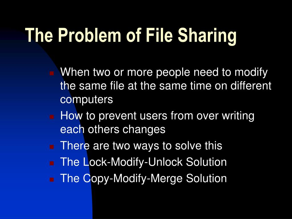 The Problem of File Sharing