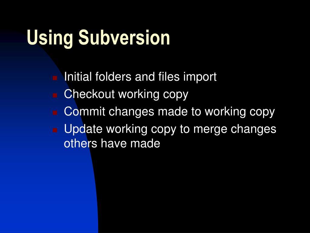 Using Subversion