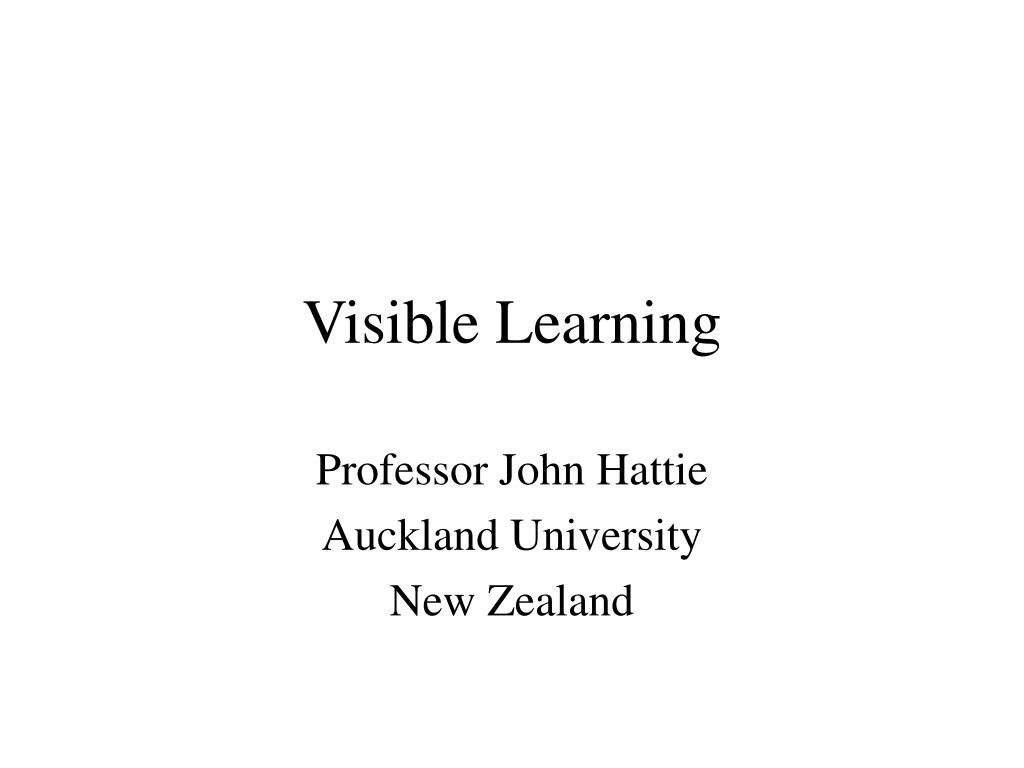visible learning l.