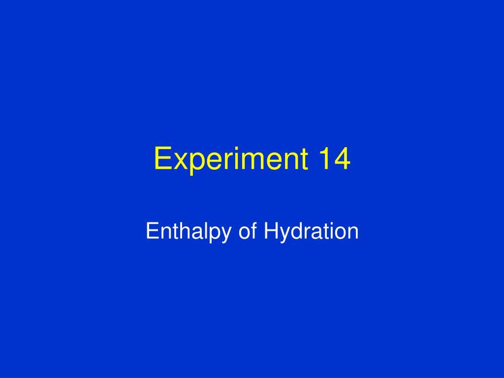 experiment 14 l.