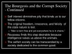 the bourgeois and the corrupt society continued