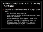 the bourgeois and the corrupt society continued22