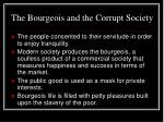 the bourgeois and the corrupt society