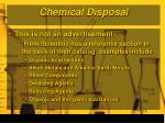 chemical disposal