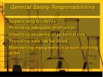 general safety responsibilities