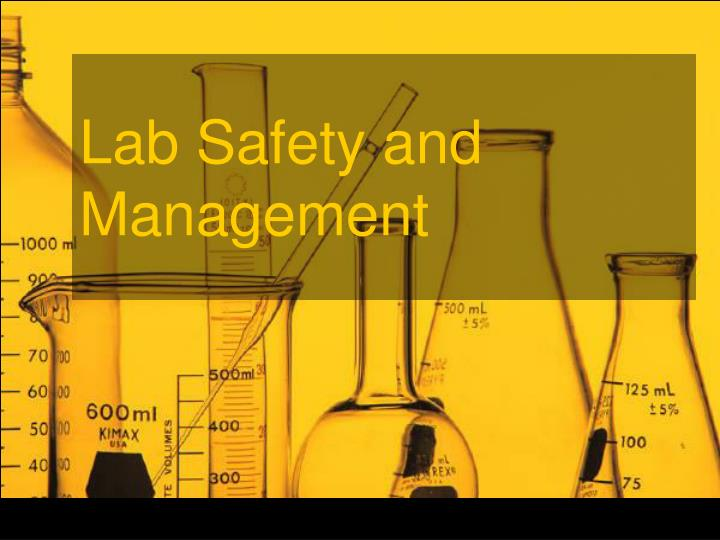 lab safety and management n.