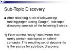 sub topic discovery