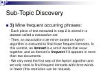 sub topic discovery57