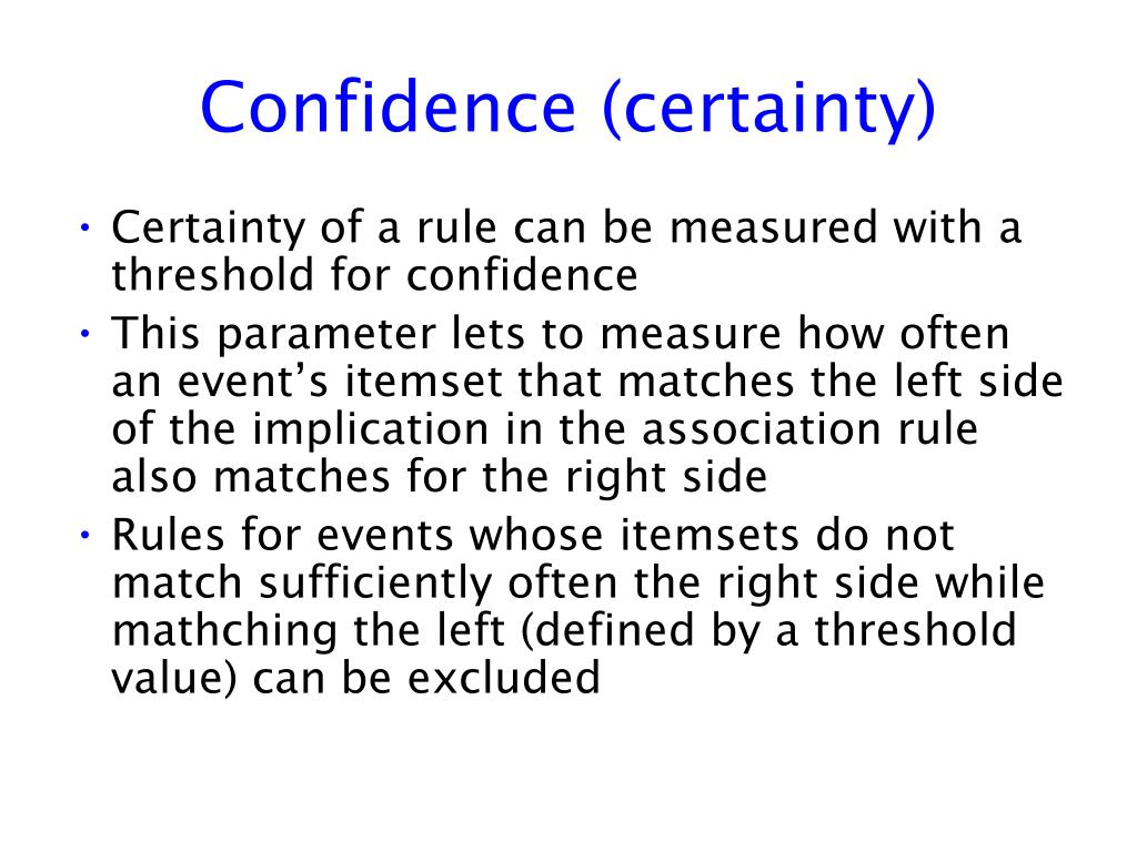 Confidence (certainty)