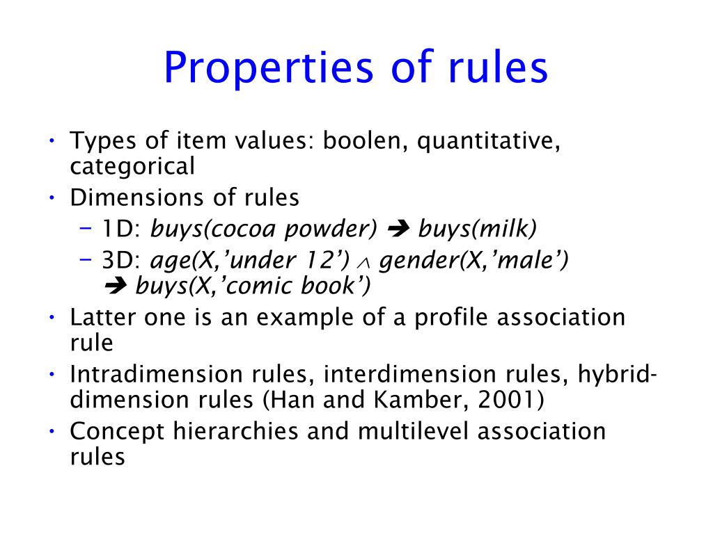 Properties of rules