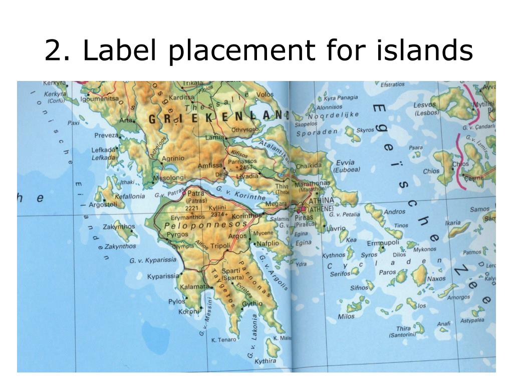 2. Label placement for islands