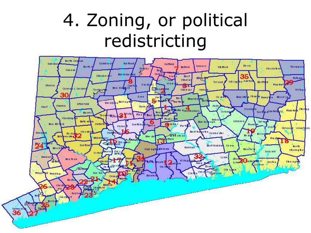 4. Zoning, or political redistricting