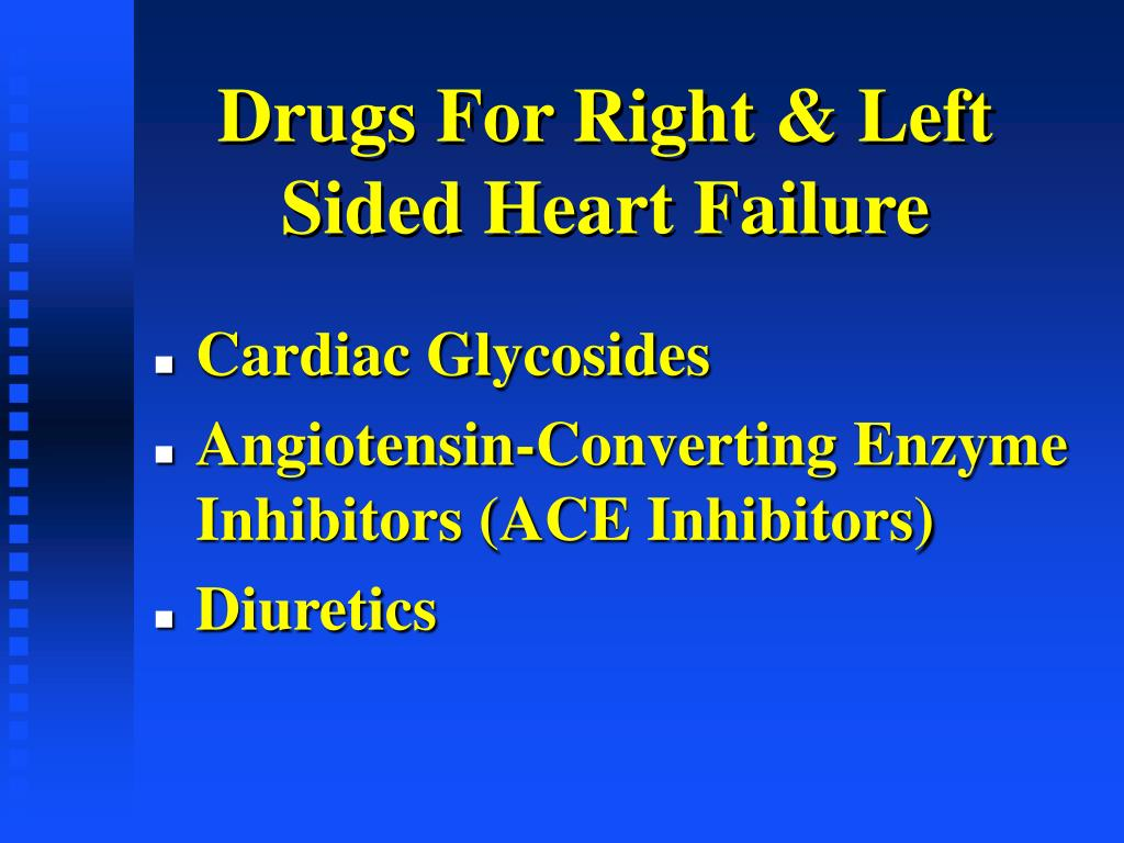 drugs for right left sided heart failure l.