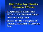 high ceiling loop diuretics mechanism of action