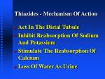 thiazides mechanism of action