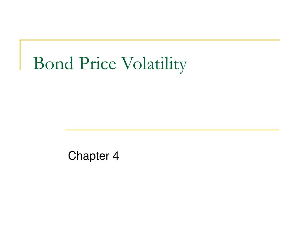 bond price volatility l.