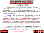 using solver excel s solver