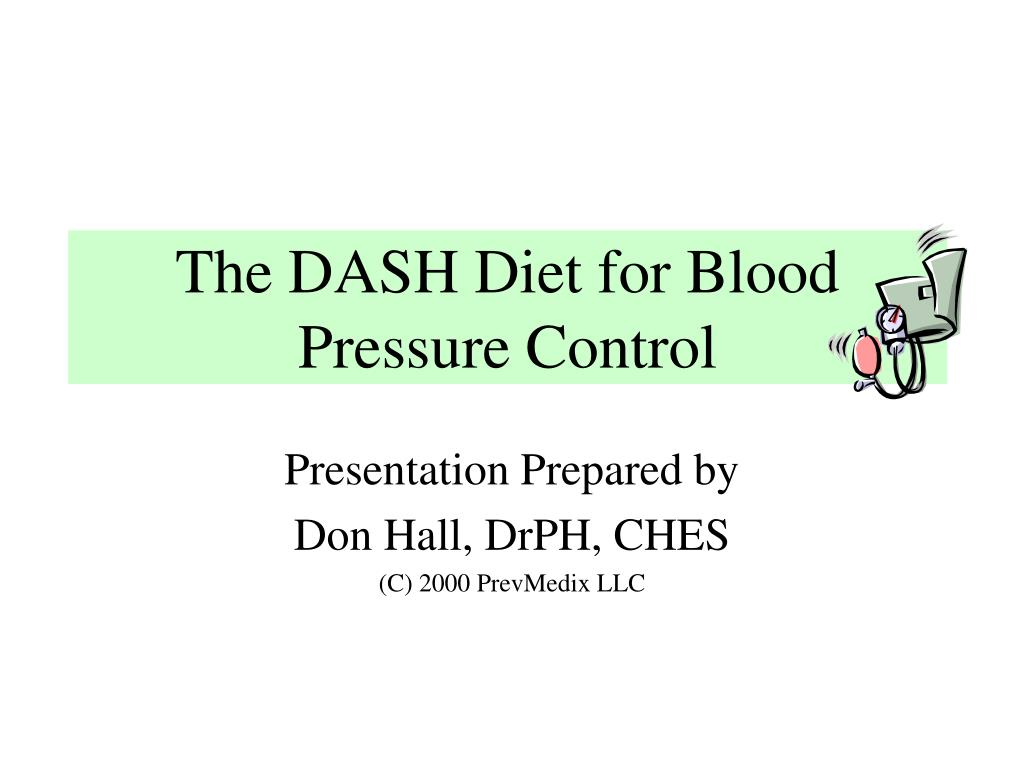 the dash diet for blood pressure control l.