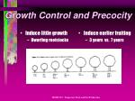 growth control and precocity