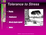 tolerance to stress17