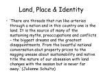 land place identity