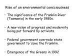 rise of an environmental consciousness