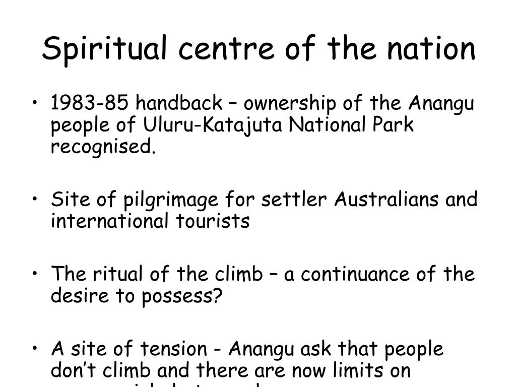 Spiritual centre of the nation