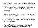 spiritual centre of the nation