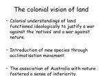 the colonial vision of land7