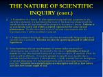the nature of scientific inquiry cont