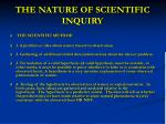 the nature of scientific inquiry