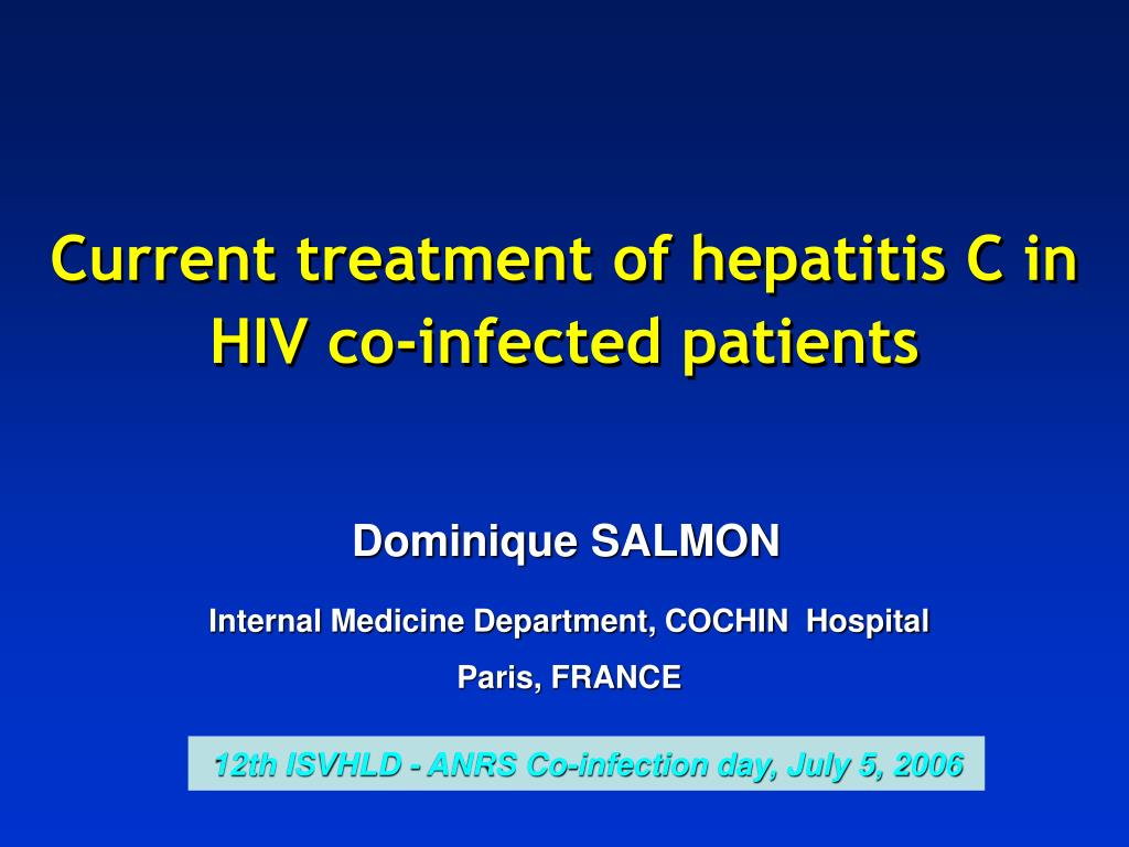 current treatment of hepatitis c in hiv co infected patients l.
