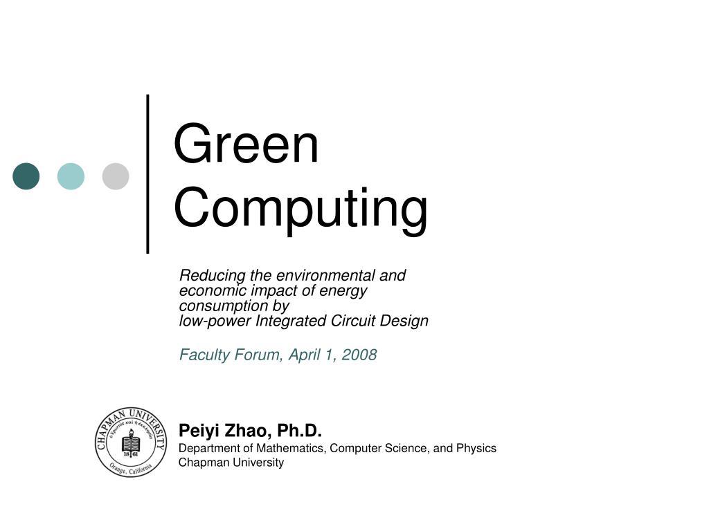 green computing l.