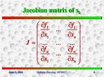 jacobian matrix of x k