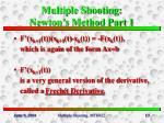 multiple shooting newton s method part 1