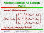 newton s method an example part 3
